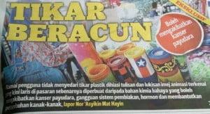 bahaya tikar plastik