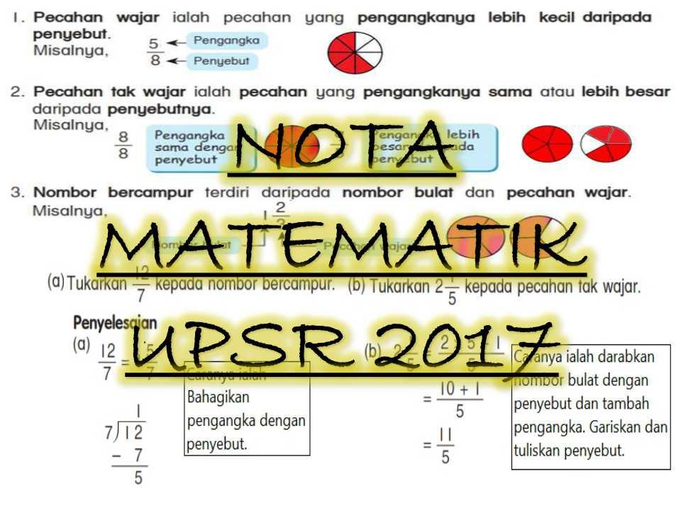 nota matematik upsr - Sumber Pendidikan