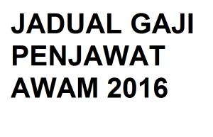 JADUAL GAJI 2016-0
