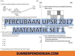 Percubaan Upsr Matematik Set 1 Sumber Pendidikan