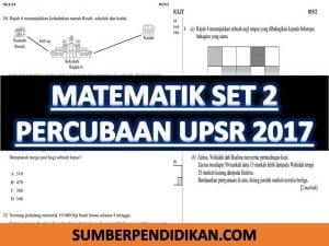 Percubaan Upsr Matematik Set 2 Sumber Pendidikan