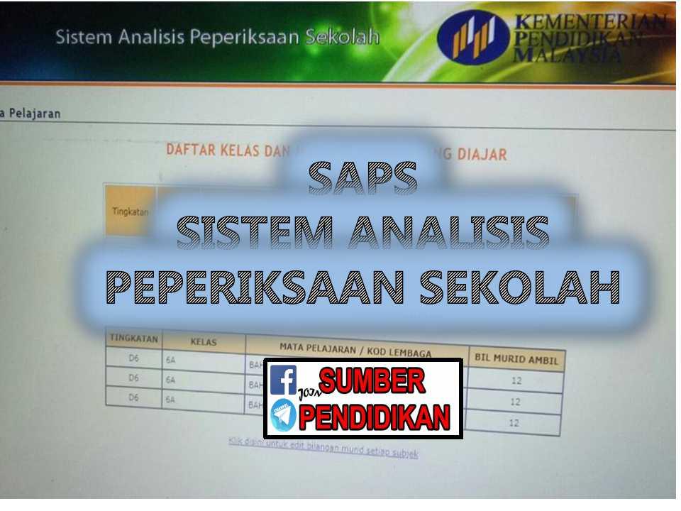 Saps Sistem Analisis Peperiksaan Sekolah Sumber Pendidikan
