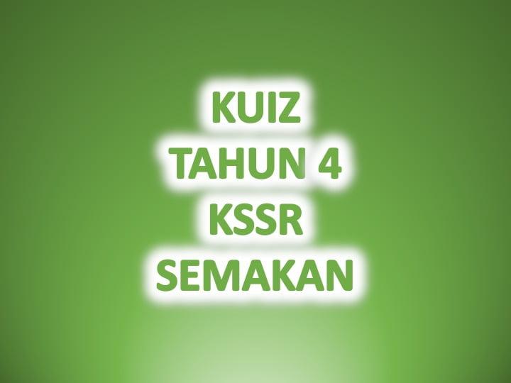 Kuiz Online Bahasa Melayu Tahun 4 Sumber Pendidikan
