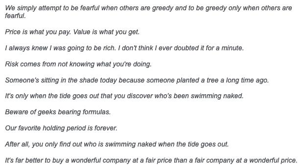 Kata-kata keramat Warren Buffet